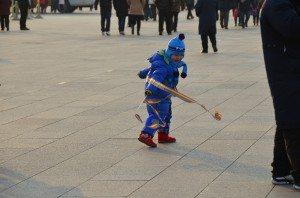 Child in Tiananmen Square